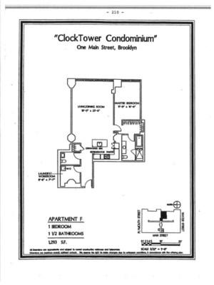 floorplan for 1 Main Street #11F