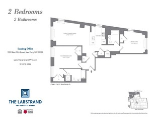 floorplan for 227 West 77th Street #21D