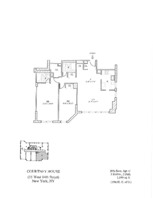floorplan for 55 West 14th Street #20C