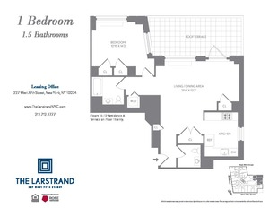floorplan for 227 West 77th Street #15A