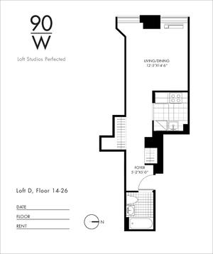 floorplan for 90 Washington Street #25D