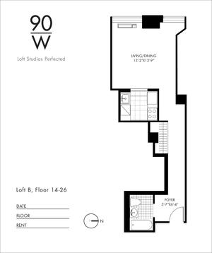 floorplan for 90 Washington Street #21B