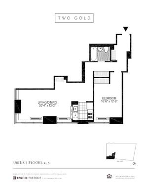 floorplan for 2 Gold Street #5K