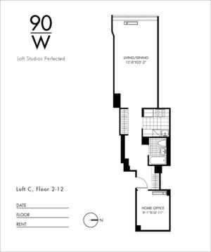 floorplan for 90 Washington Street #2C
