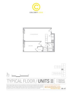 floorplan for 1209 Dekalb Avenue #405