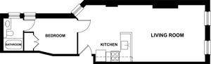 floorplan for 303 East 81st Street #2FE
