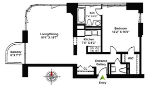 floorplan for 52 East End Avenue #11C