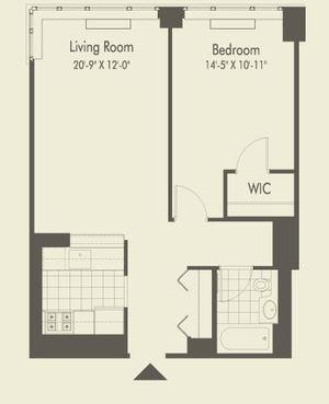 floorplan for 601 W 57th Street #30Q