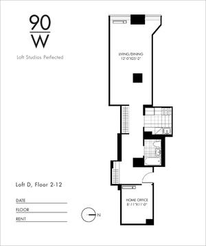 floorplan for 90 Washington Street #8D