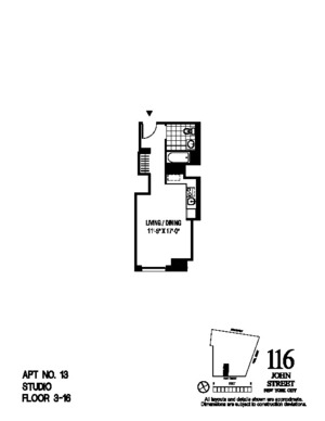 floorplan for 116 John Street #2213