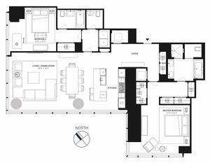 floorplan for 157 West 57th Street #35C