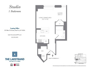 floorplan for 227 West 77th Street #9H