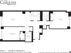 floorplan for 60 West 23rd Street #701