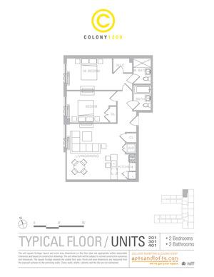 floorplan for 1209 Dekalb Avenue #401