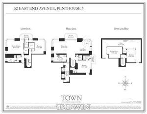 floorplan for 52 East End Avenue #PH1