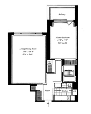 floorplan for 30 East 85th Street #5D