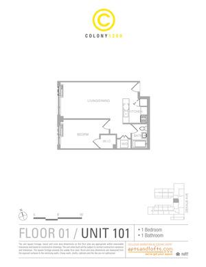 floorplan for 1209 Dekalb Avenue #101