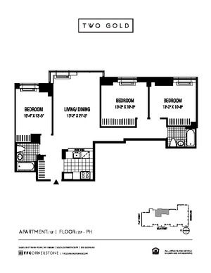 floorplan for 2 Gold Street #3512