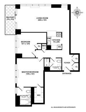 floorplan for 422 East 72nd Street #11D