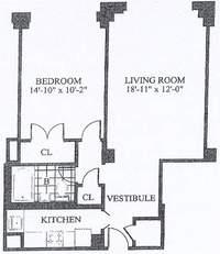 floorplan for 30 Park Avenue #10N
