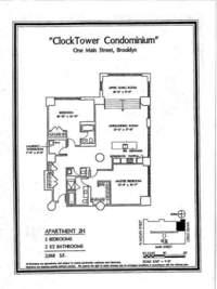 floorplan for 1 Main Street #2H
