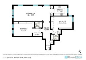 floorplan for 220 Madison Avenue #11A