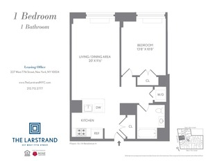 floorplan for 227 West 77th Street , #10H