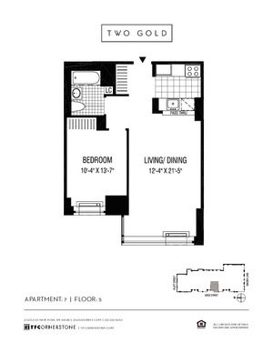 floorplan for 2 Gold Street #507