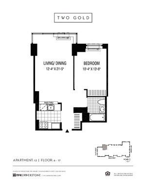 floorplan for 2 Gold Street #1212