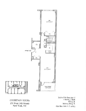 floorplan for 55 West 14th Street #10C