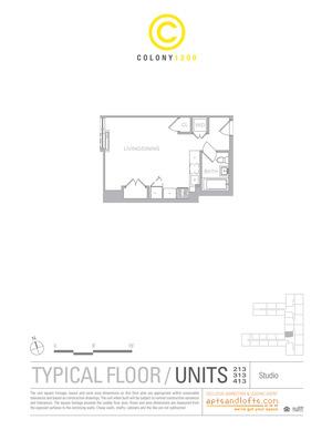 floorplan for 1209 Dekalb Avenue #313
