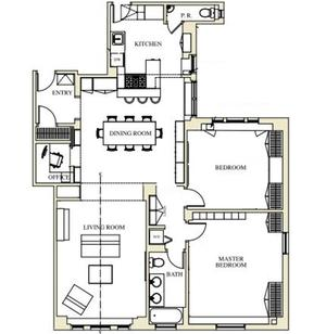 floorplan for 221 West 82nd Street #9C