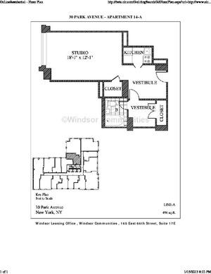 floorplan for 30 Park Avenue #14A