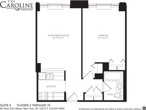 floorplan for 60 West 23rd Street #1708