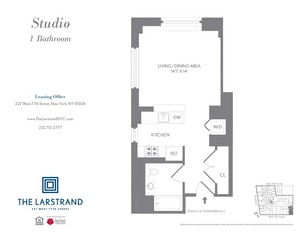 floorplan for 227 West 77th Street , #12C