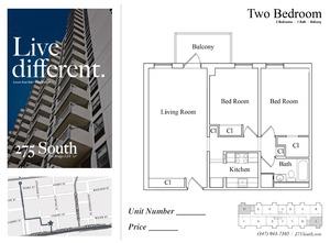 floorplan for 275 South Street #15A