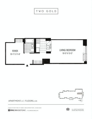 floorplan for 2 Gold Street #503