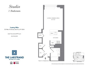 floorplan for 227 West 77th Street #14B