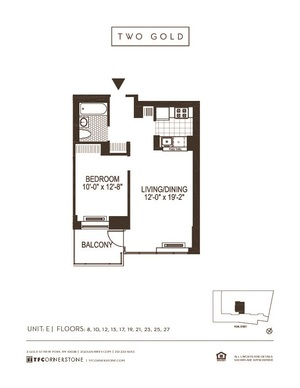 floorplan for 2 Gold Street #4504