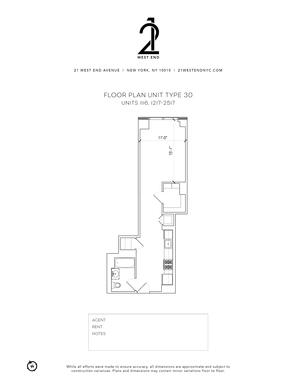 floorplan for 21 West End Avenue #1517