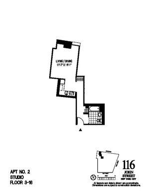 floorplan for 116 John Street #402