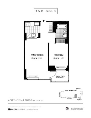 floorplan for 2 Gold Street #2904