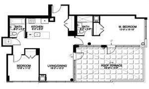 floorplan for 315 Gates Avenue #6C