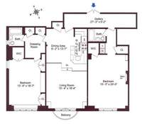 floorplan for 150 Central Park South #806807