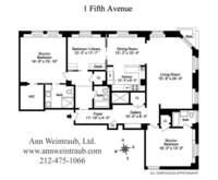floorplan for 1 Fifth Avenue #10BC