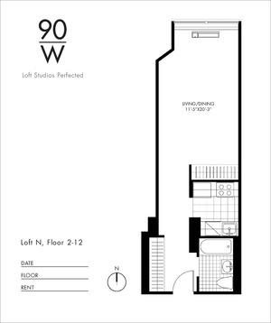 floorplan for 90 Washington Street #4N