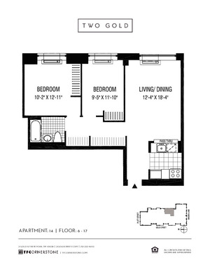 floorplan for 2 Gold Street #1514