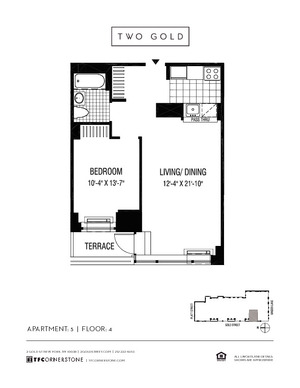 floorplan for 2 Gold Street #405