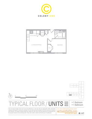 floorplan for 1209 Dekalb Avenue #422