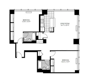 floorplan for 50 Murray Street #812